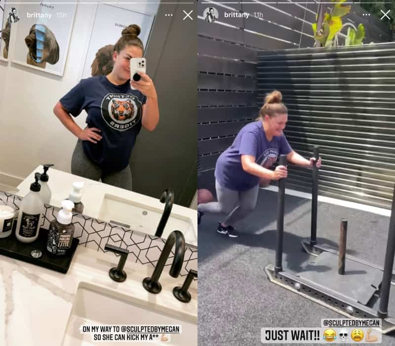 Vanderpump Rules Brittany Cartwright Hits the Gym After Pregnancy Rumors