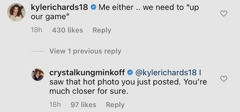 RHOBH Crystal Kung-Minkoff Claims Kyle Richards is Closer to a Drake Follow