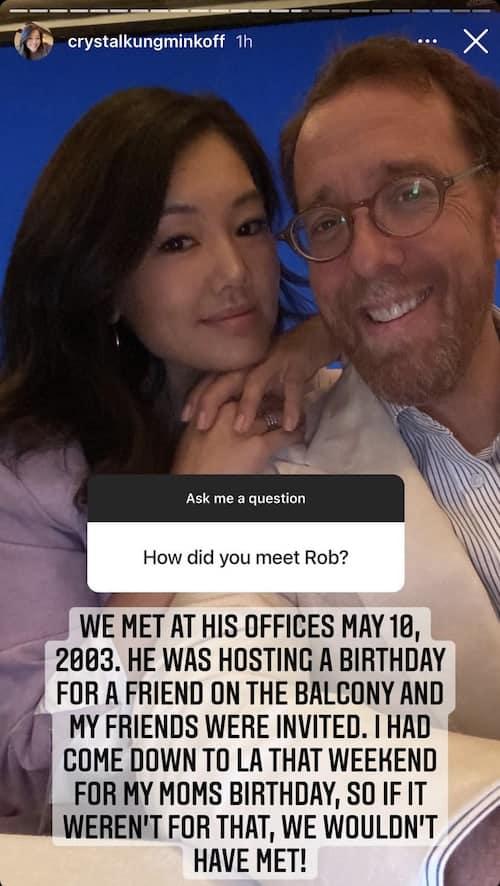RHOBH Crystal Kung-Minkoff Reveals How She Met Husband Rob