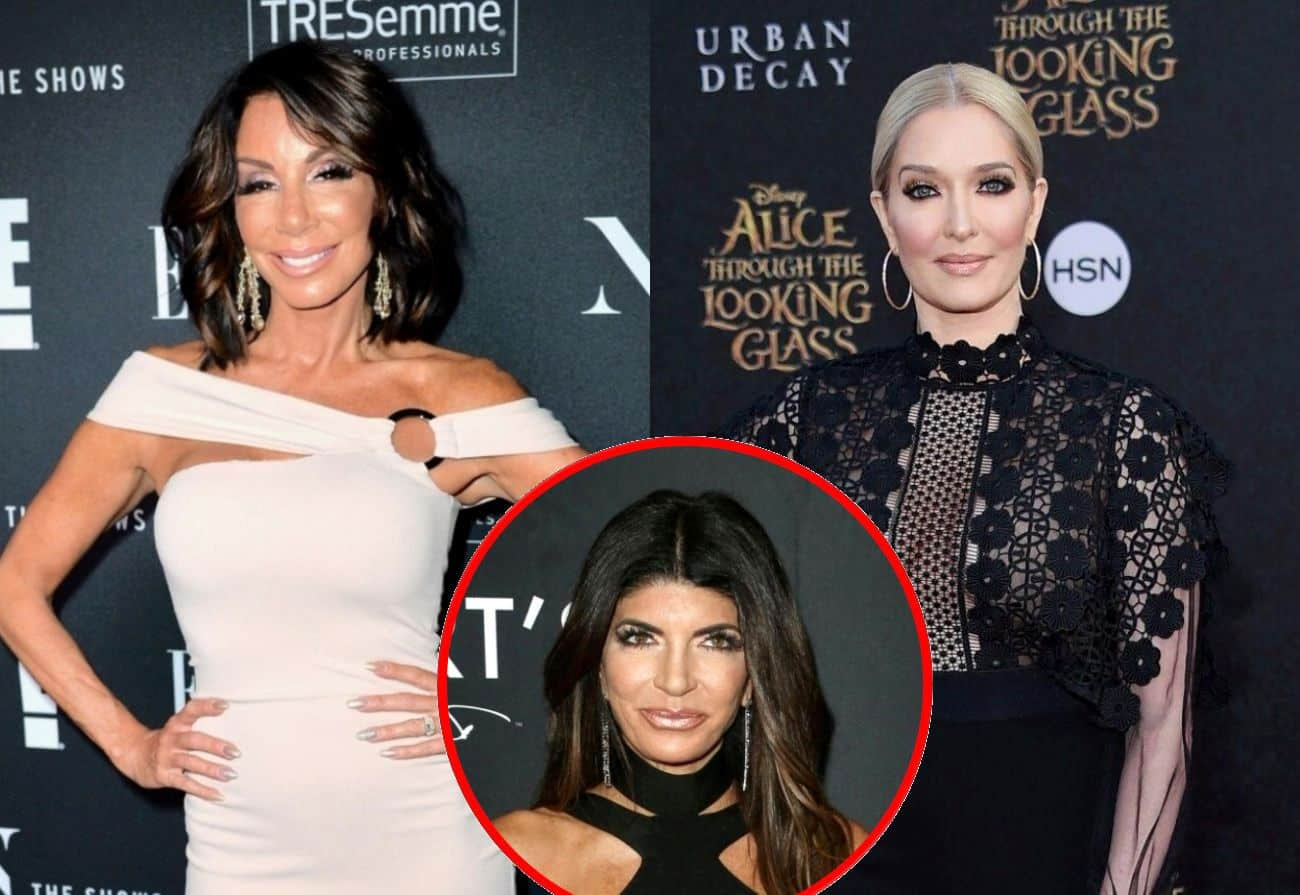 "Danielle Staub Slams Erika Jayne for Handling Legal Scandal ""Very Poorly,"" Suggests RHOBH Star Offer Jewelry to Victims and Seemingly Calls RHONJ Star Teresa Giudice Dumb"