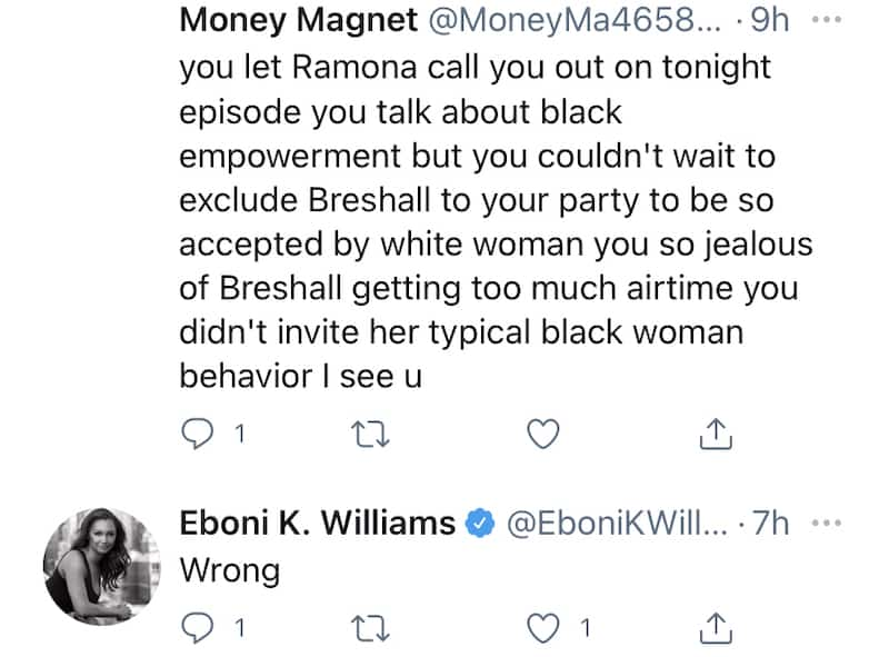 RHONY Eboni K. Williams Slammed for Leaving Bershan Shaw Out of Event