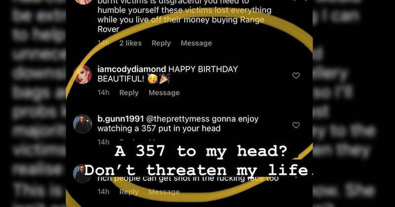 RHOBH Erika Jayne Received Death Threat on Instagram
