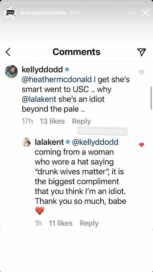 RHOC Kelly Dodd Slams Lala Kent as an Idiot as Pump Rules Star Reacts