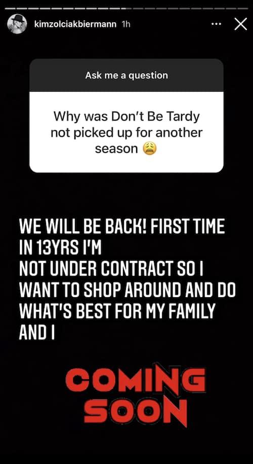 RHOA Kim Zolciak Confirms New Season of Don't Be Tardy is Coming Soon