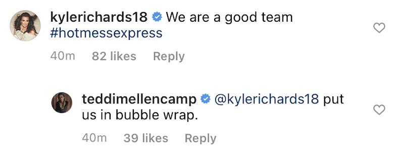 RHOBH Kyle Richards Responds to Teddi Mellencamp Fall