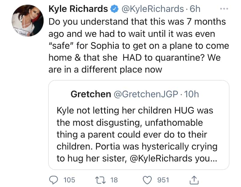 RHOBH Kyle Richards Says Daughter Sophia Had to Quarantine After Coming Home From College