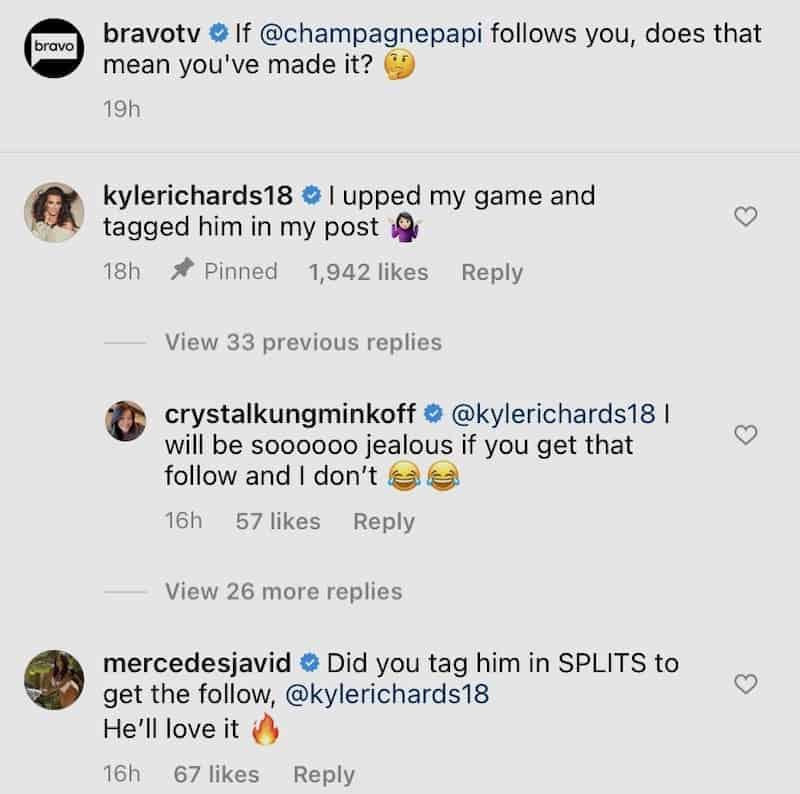 RHOBH Kyle Richards Ups Her Game and Tags Drake in Bikini Pic