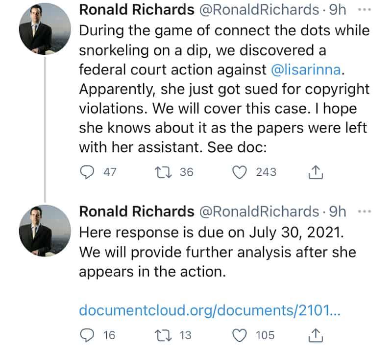 RHOBH Lisa Rinna Accused of Copyright Violations