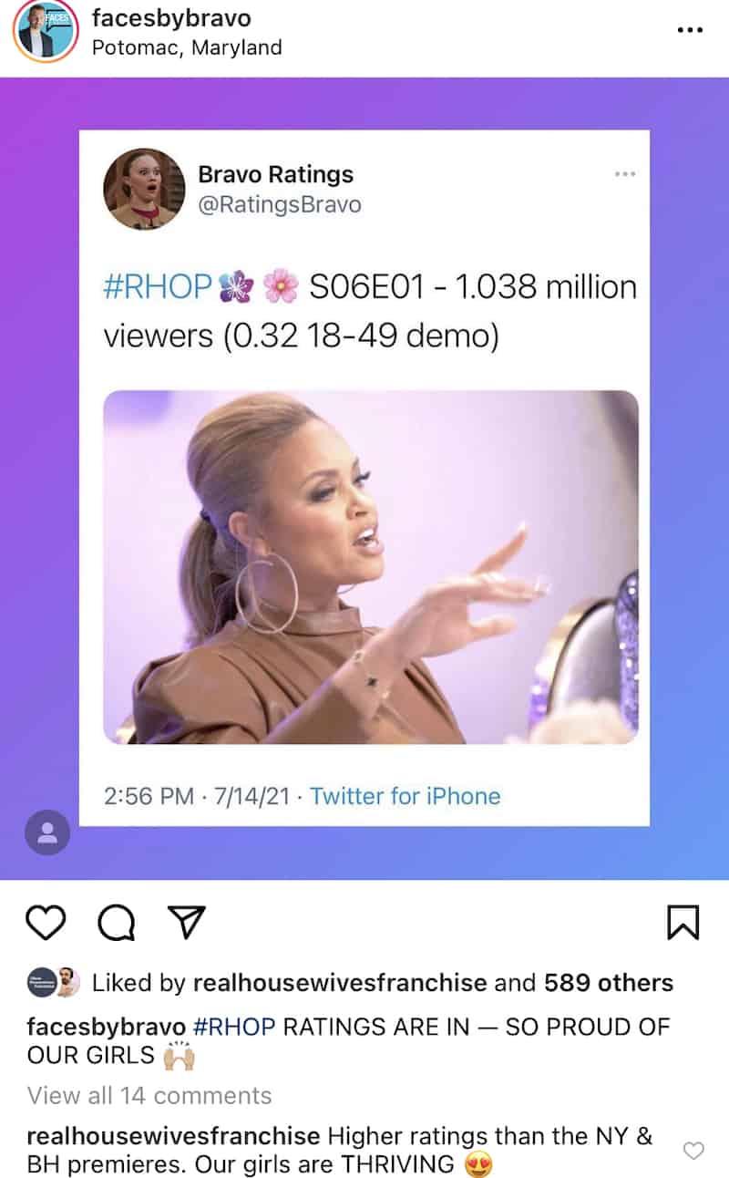 RHOP Premiere Gets Higher Ratings Than RHOBH and RHONY Premieres