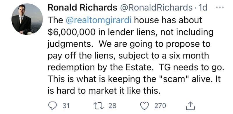 RHOBH Thomas Girardi's House Has $6 Million in Liens Against It