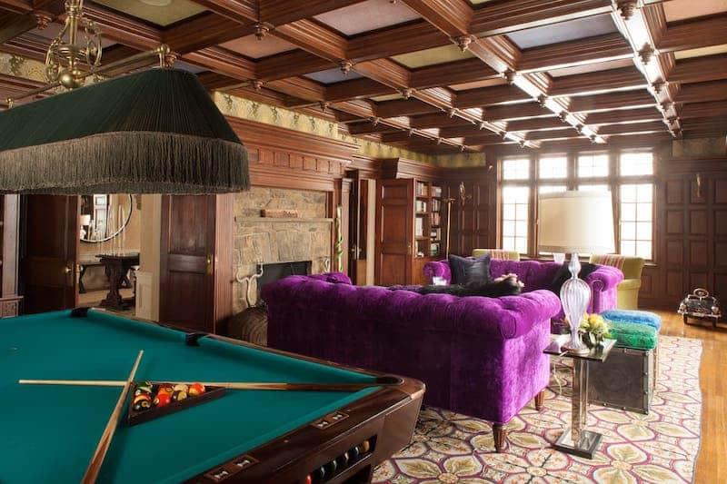 RHONY Dorinda Medley Bluestone Manor Billiards Room