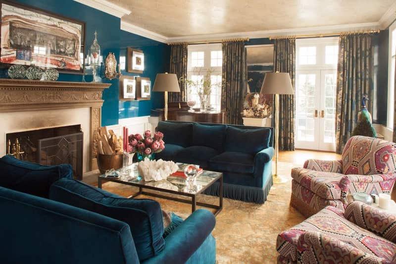 RHONY Dorinda Medley Bluestone Manor Living Room
