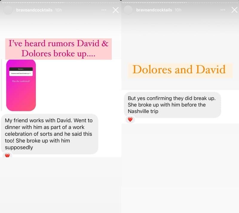 RHONJ Dolores Catania Dr. David Principe Breakup Rumor