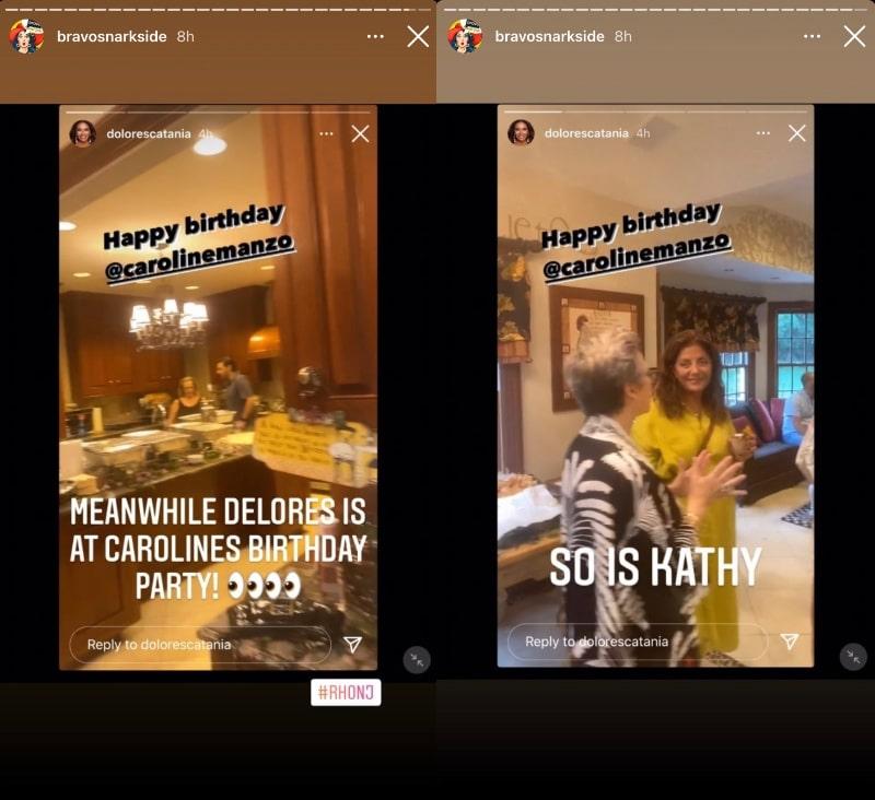 RHONJ Dolores Catania celebrates Caroline Manzo's Birthday With Kathy Wakile