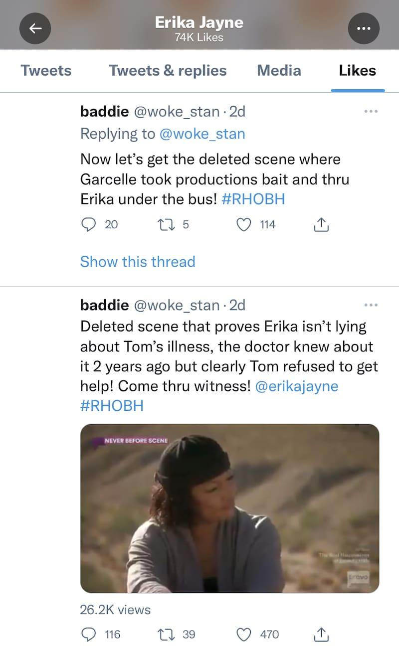 RHOBH Erika Jayne Slams Garcelle Beauvais for Throwing Her Under Bus on RHOBH