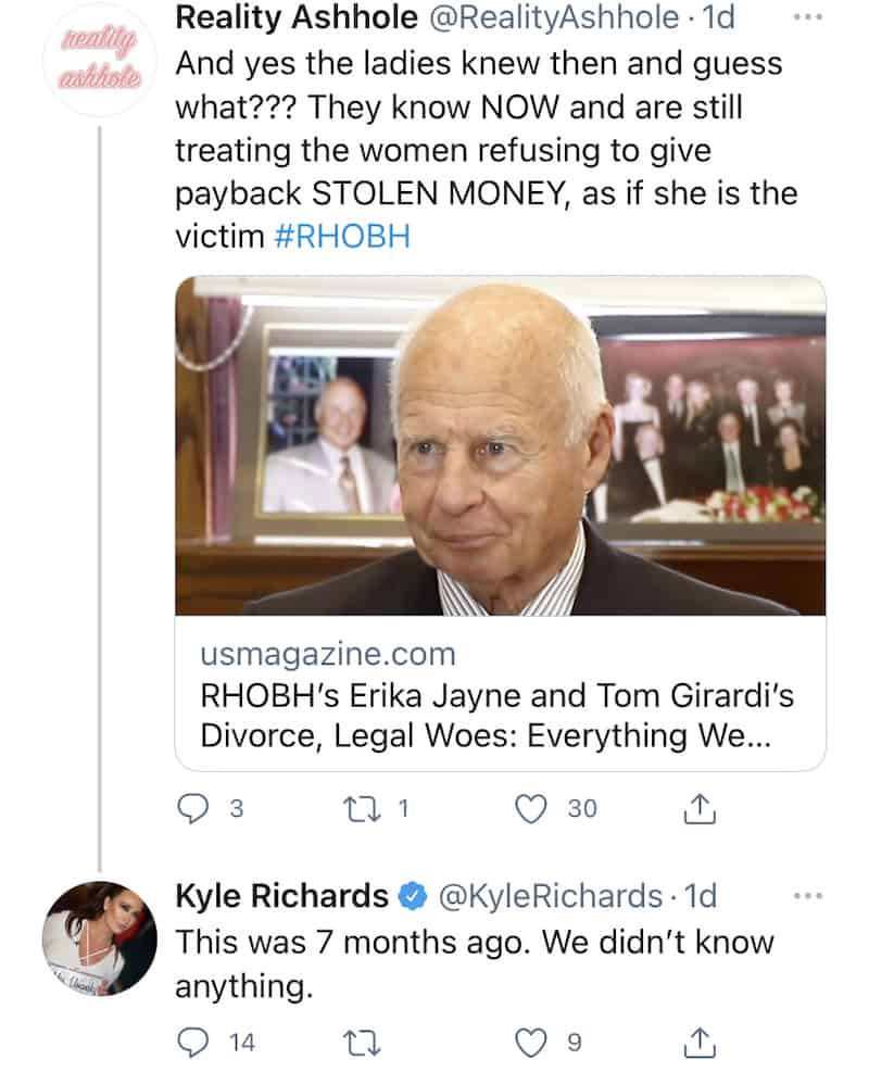 RHOBH Kyle Richards Defends Herself After Being Accused of Treating Erika Jayne as the Victims