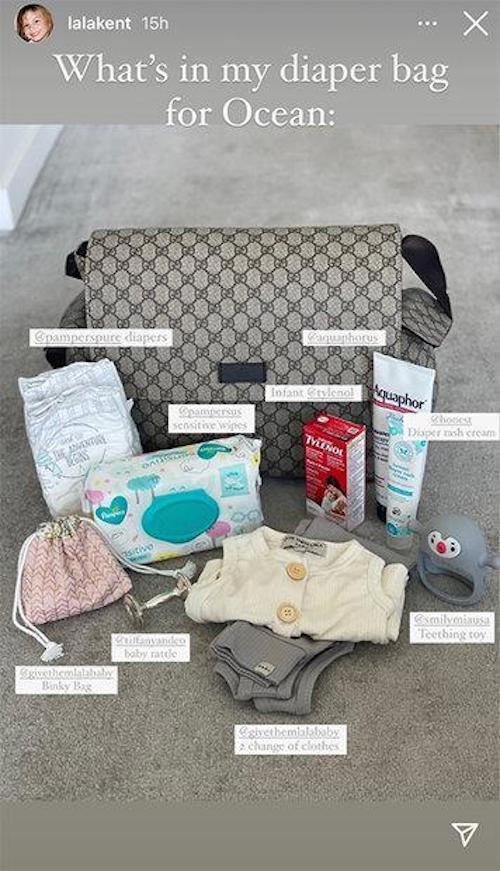 Vanderpump Rules Lala Kent Gucci Diaper Bag for Daughter Ocean
