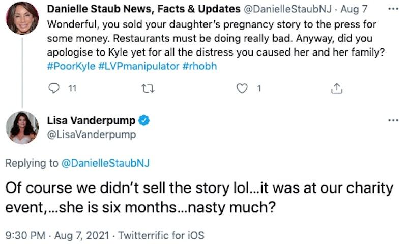 RHOBH Lisa Vanderpump Denies Selling Daughter's Pregnancy Story