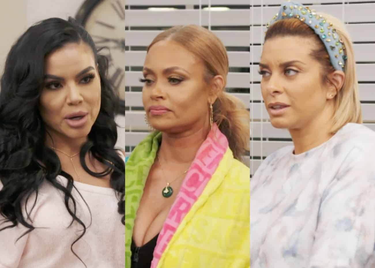 Mia sends a gloomy text message to Gizelle and Robyn, Candiace throws a peace party at PJ, and Ashley goes into labor