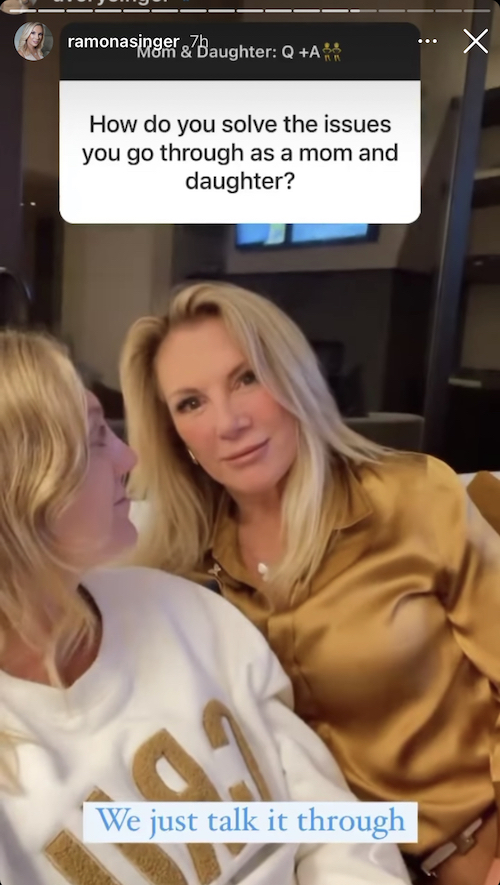 RHONY Ramona Singer on How She and Avery Handle Mother-Daughter Issues