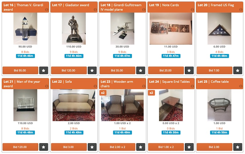 RHOBH Thomas Girardi's Law Firm Online Auction