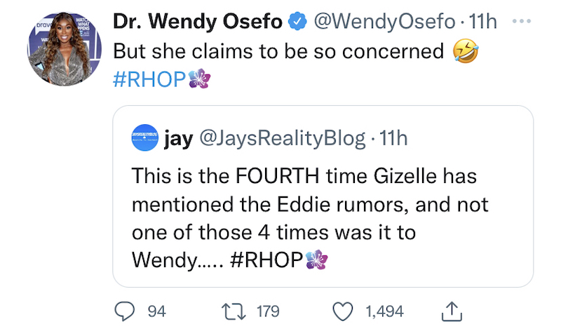 RHOP Wendy Osefo Calls Out Gizelle Bryant for Faking Concern