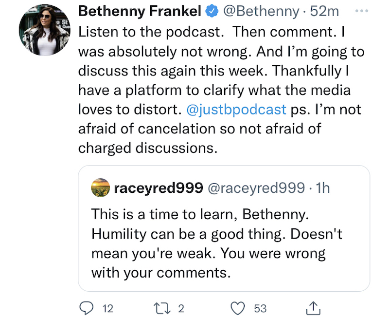 RHONY Bethenny Frankel Isn't Afraid of Being Canceled
