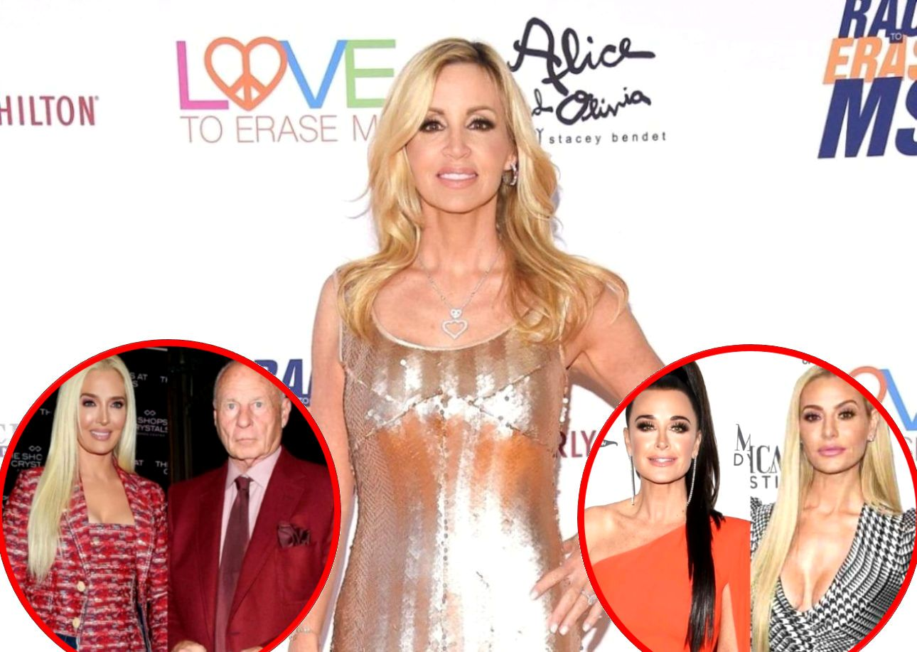 """RHOBH's Camille Grammer Hints at Who Told Her About Erika Jayne Rumors, Reacts to Accusations of Kyle and Dorit Trying to """"Break"""" Cast Members"""