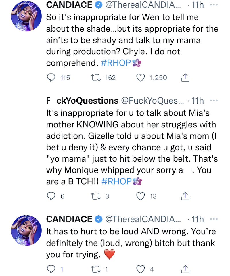 Candiace Dillard Calls Out Double Standards for RHOP Cast
