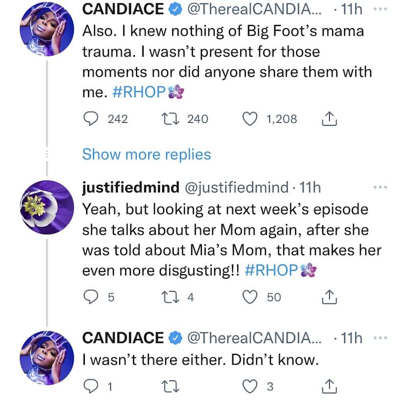 RHOP Candiace Dillard Denies Knowing About Mia Thornton Mom Drama