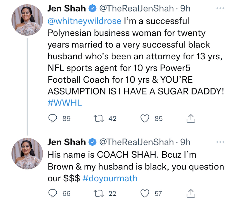 RHOSLC Jen Shah Accuses Whitney Rose of Racism