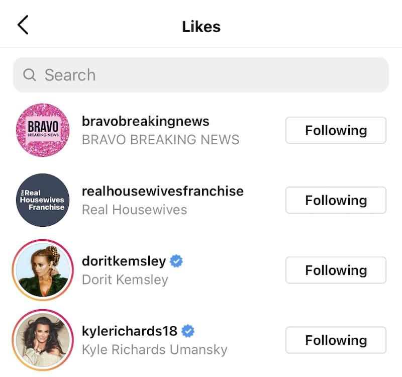 RHOBH Kyle Richards and Dorit Kemsley Like Shady Post About Lisa Vanderpump