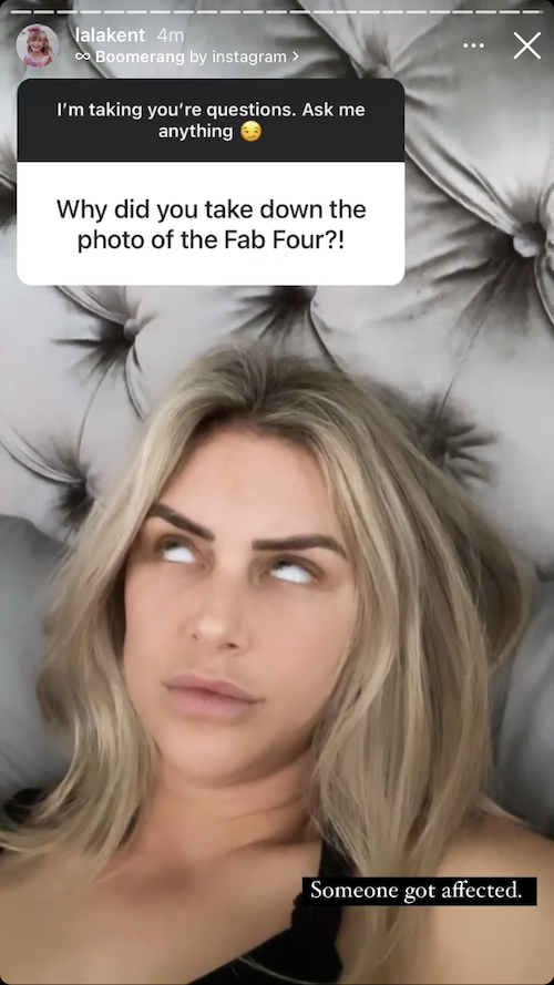 Vanderpump Rules Lala Kent Reacts to Ariana Madix Getting Affected By OG Photo