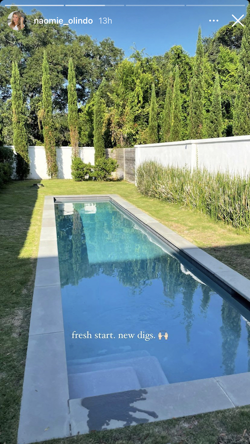 southern charm naomie olindo new house swimming pool