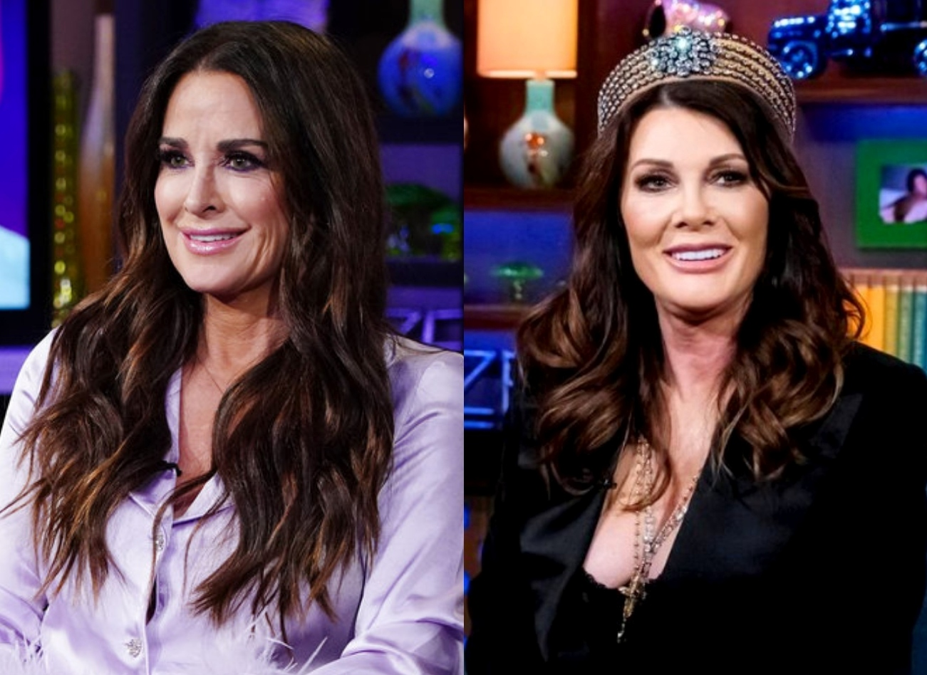 """RHOBH's Kyle Richards Shades LVP's Claims of Spreading Erika Rumors and Suggests Relevance is """"Fading"""" as LVP Claps Back With Re-Tweet About Lies and Deflection"""