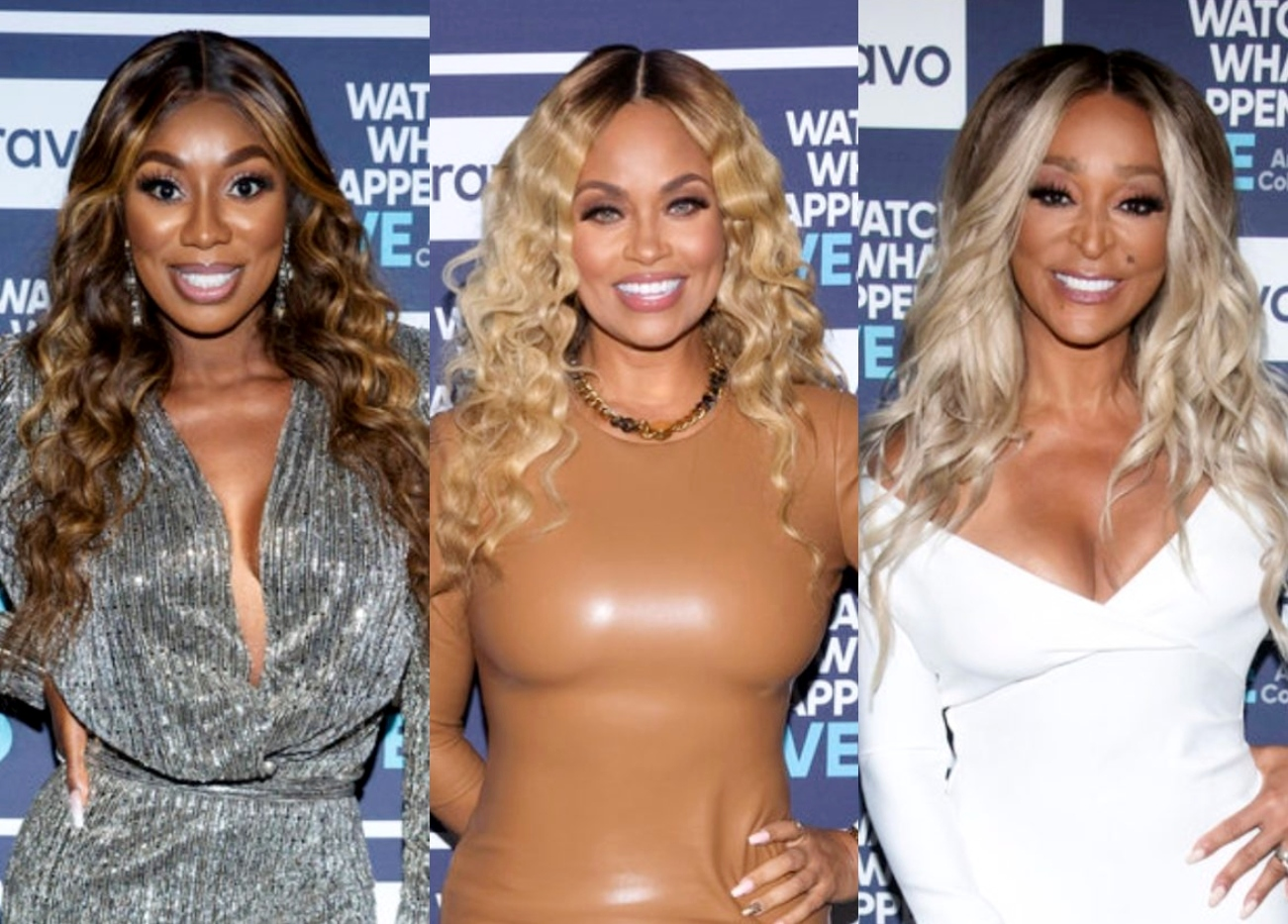"""RHOP's Dr. Wendy Osefo Denies Gizelle Bryant Brought Up Eddie Rumors Off-Camera, Shades Her """"Misery"""" as Karen Huger Wonders What Gizelle Knows About Relationships"""