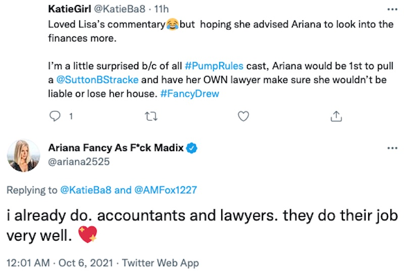 vanderpump rules ariana madix confirms she has lawyers and accountants