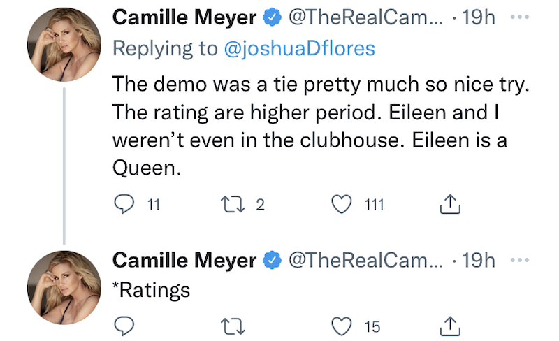 rhobh camille grammer claims wwhl demo was high for her and eileen davidson