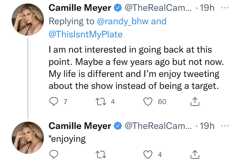 camille grammer explains why she won't return to rhobh