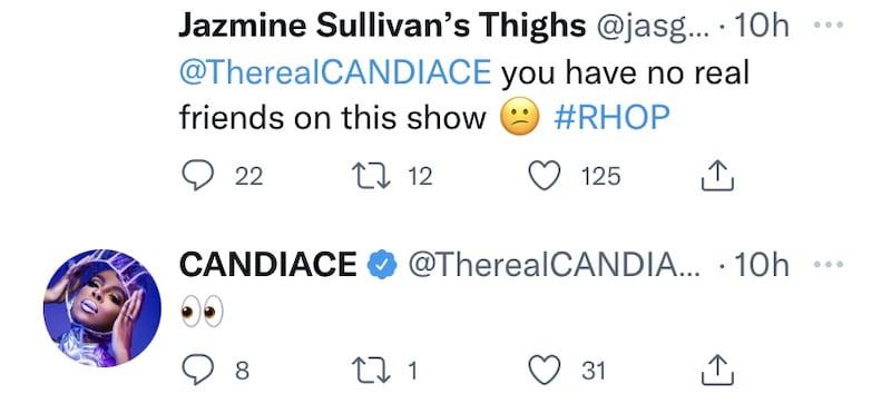 rhop candiace dillard agrees she has no friends on rhop cast