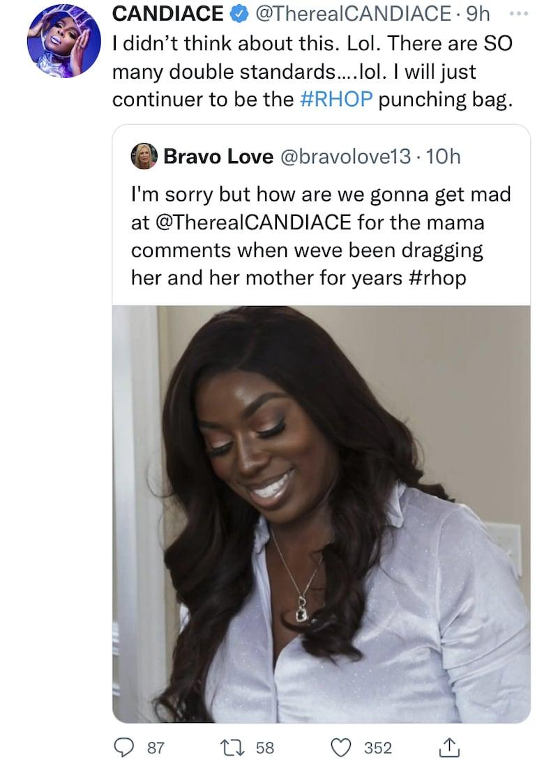 candiace dillard slams rhop double standards