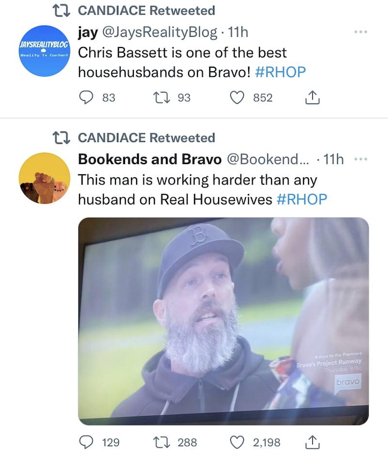 rhop candiace dillard's husband chris bassett applauded as hard working