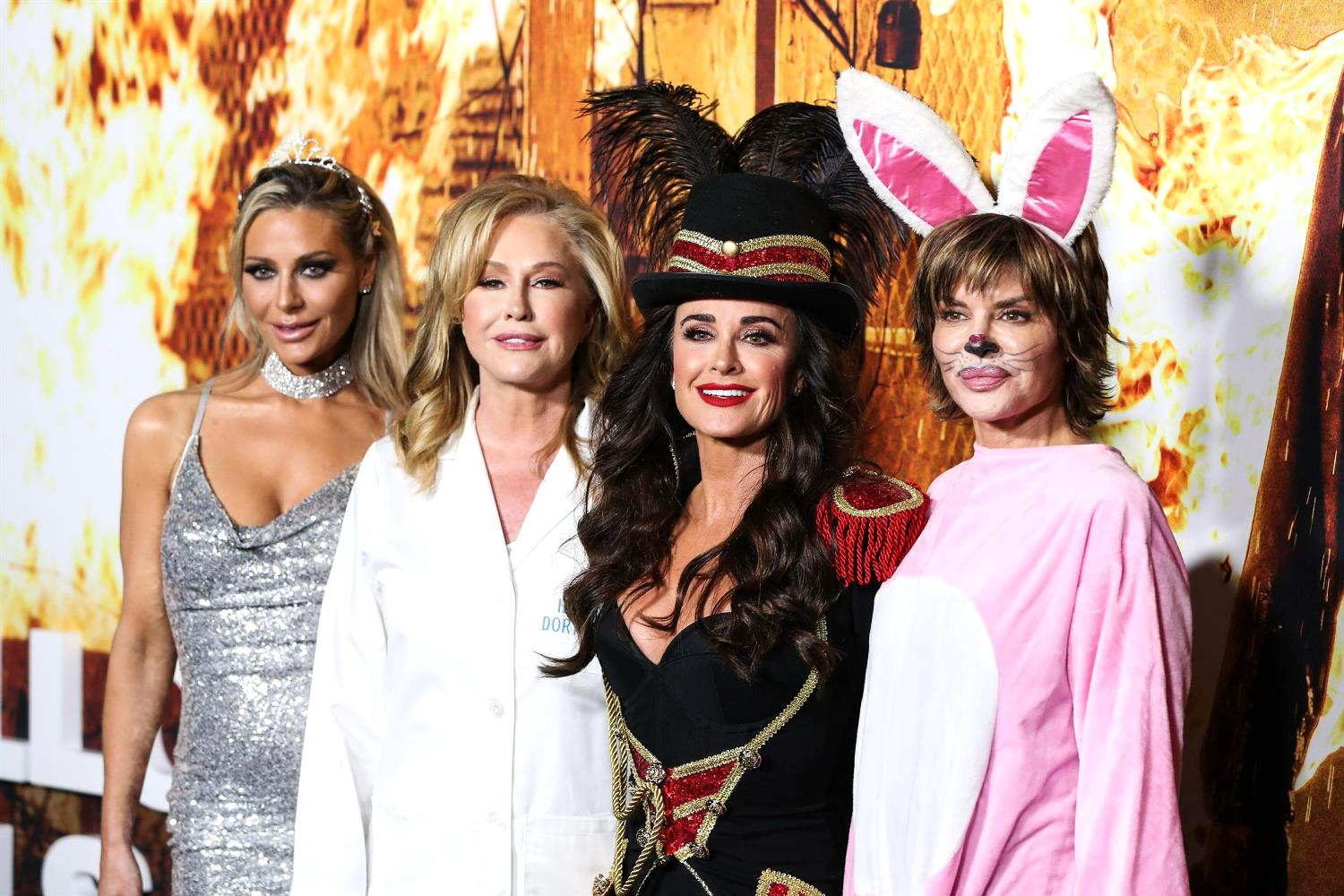 """PHOTOS: RHOBH Cast Attends Kyle Richards' Movie Premiere For Halloween Kills in Costumes, See Kathy Hilton as """"Hunky Dory, DDS"""" and Dorit Kemsley as Paris Hilton, Plus Teddi"""