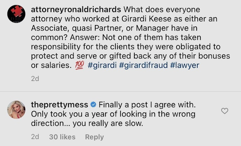 rhobh erika jayne finally agrees with ronald richards about girardi fraud