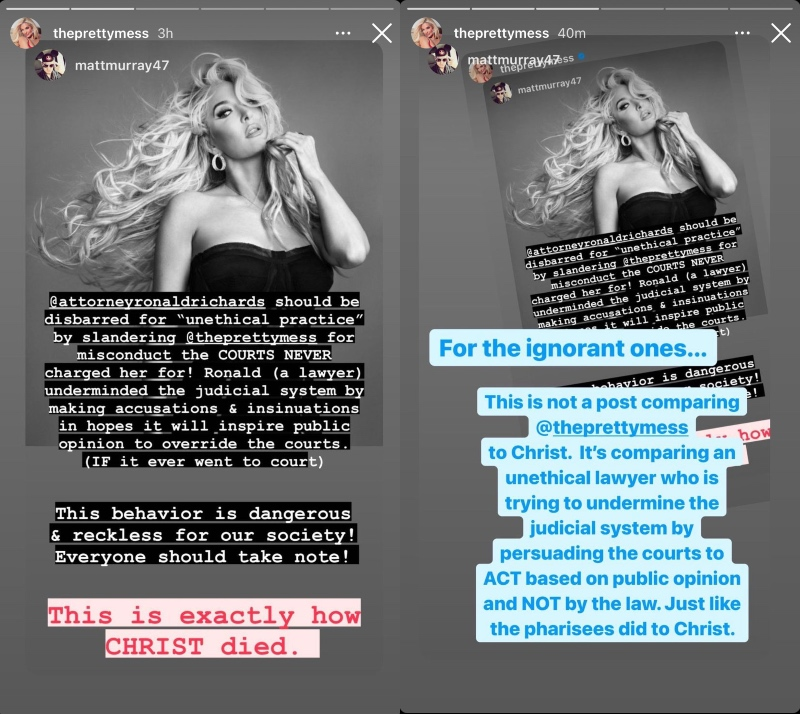 rhobh erika jayne on christ comparison controvery