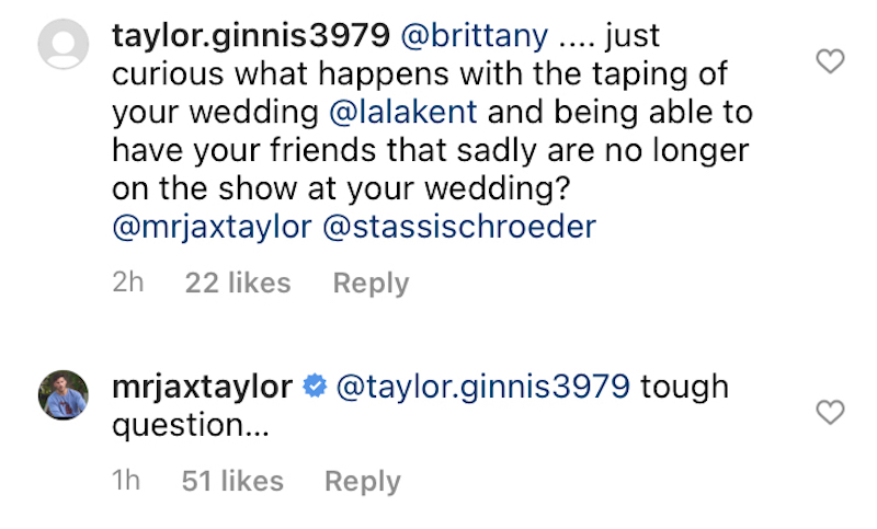 vanderpump rules jax taylor wonders how lala kent wedding will be filmed