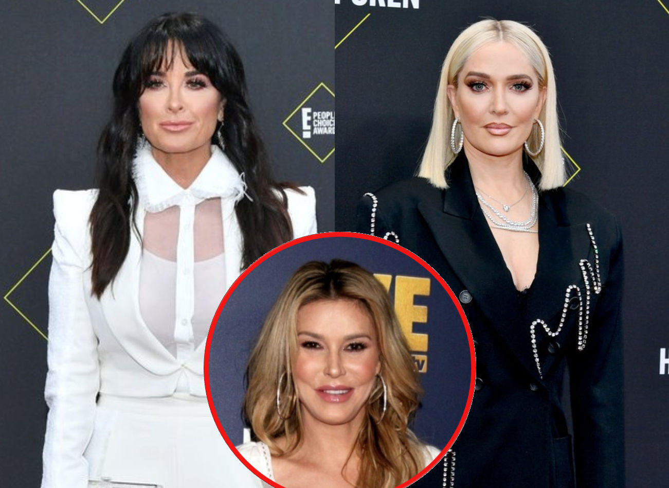 RHOBH's Kyle Richards Reveals Where She Stands With Erika Jayne After Mauricio and PK's Rant as Brandi Glanville Reacts to the 'Scary' Text Story