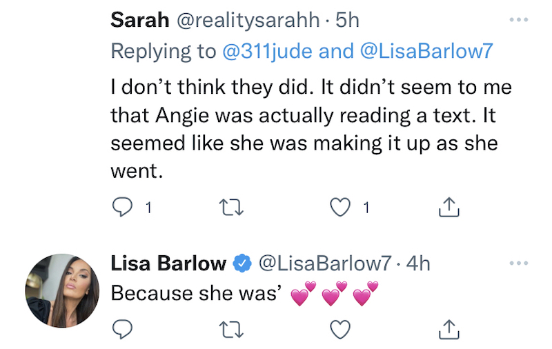 rhoslc lisa barlow claims angie harrington lied about text
