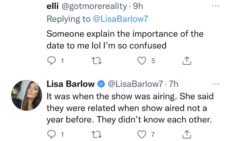 rhoslc lisa barlow explains leaked text cousin timeline