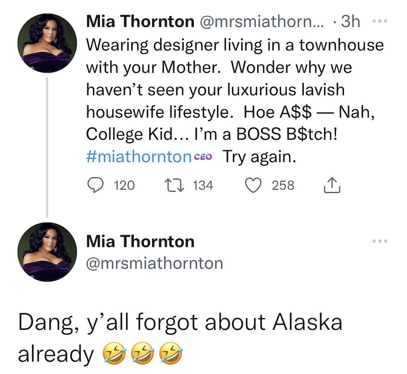 RHOP Mia Thornton Shades Askale Davis for Living With Mom